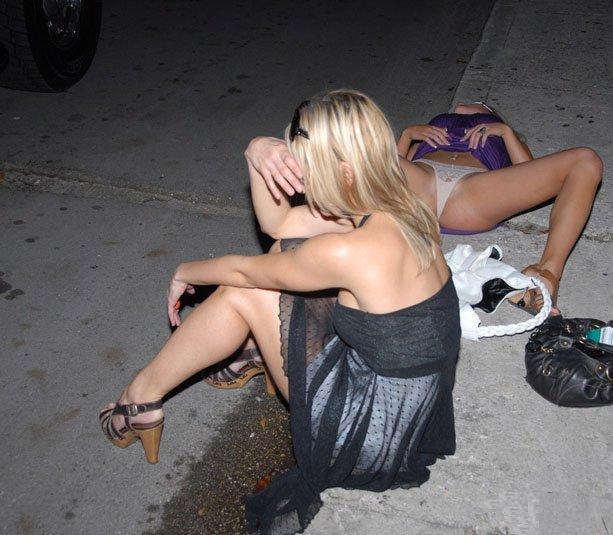 пьяная телка